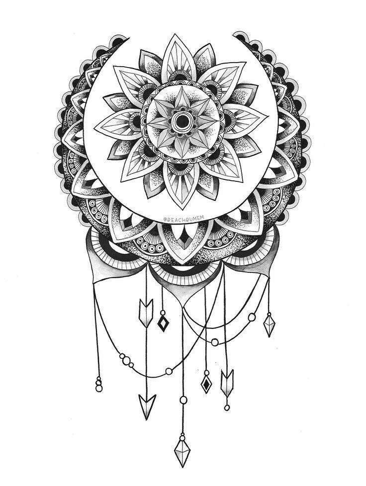 Best  Mandala Tattoo Design Ideas On   Lotus Mandala